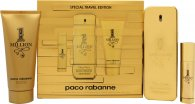 Paco Rabanne 1 Million Special Travel Edition Gift Set 3.4oz (100ml) EDT + 0.3oz (10ml) EDT Travel Spray + 3.4oz (100ml) Shower Gel