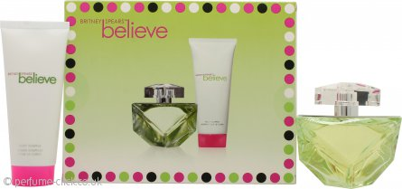 Britney Spears Believe Gift Set 100ml EDP + 100ml Body Souffle