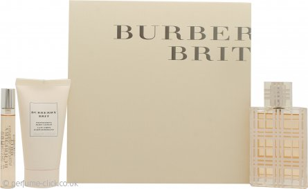 Burberry Brit Woman Gift Set 50ml EDT + 50ml Body Lotion + 7.5ml Mini