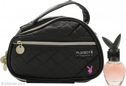 Playboy Play It Spicy Confezione Regalo 30ml EDT + Borsa per Trucchi