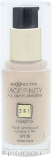 Max Factor Facefinity All Day Flawless 3 in 1 Fondotinta SPF20 30ml - 30 Porcelain