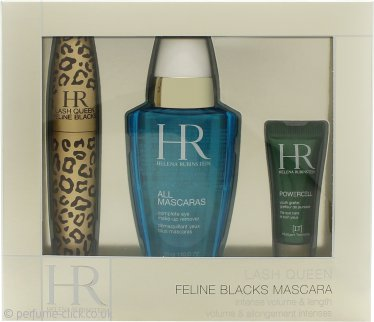 Helena Rubinstein Lash Queen Feline Gift Set 7.2ml Mascara + 50ml All Mascaras! Eye Make-Up Remover + 3ml Prodigy Eye Care