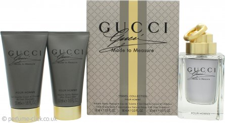 Gucci Made to Measure Gift Set 90ml EDT Spray + 50ml Aftershave Balm + 50ml All Over Shampoo