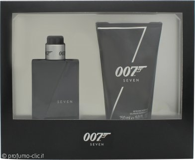 James Bond 007 Seven Confezione Regalo 50ml EDT + 150ml Gel Doccia