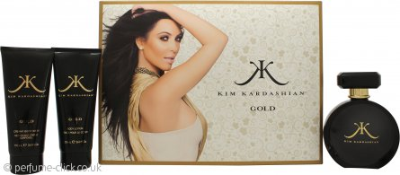 Kim Kardashian Gold Gift Set 100ml EDP + 100ml Body Lotion + 100ml Body Wash