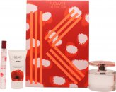 Kenzo Flower In The Air Gift Set 100ml EDP Spray + 15ml EDP + 50ml Body Milk
