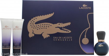 Lacoste Eau De Lacoste Sensuelle Gift Set 30ml EDP + 2 x 50ml Shower Gel