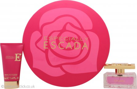 Escada Especially Gift Set 50ml EDP Spray + 50ml Body Lotion