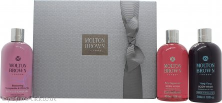 Molton Brown Blissful Bathing Gift Set 3 x 300ml Body Wash (Pink Pepperpod + Honeysuckle & White Tea + Ylang-Ylang)