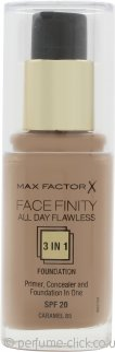 Max Factor Facefinity All Day Flawless 3 in 1 Foundation SPF20 30ml - 85 Caramel