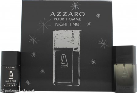 Azzaro Night Time Pour Homme Gift Set 50ml EDT + 75ml Deodorant Stick