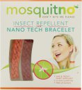 MosquitNo Insect Repellent Nano Bracelets Red & Orange