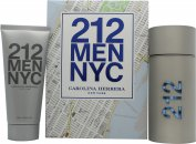 Carolina Herrera 212 Men Gift Set 100ml EDT + 100ml Aftershave Gel