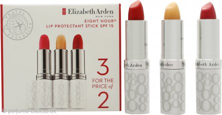 Elizabeth Arden Eight Hour Cream Lip Protectant Stick 3.7g x 3 - SPF15
