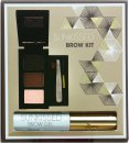 SUNkissed Brow Kit Gift Set 2 x Eye Brow Powder + Highlighter Powder + Brow Gel + Tweezers