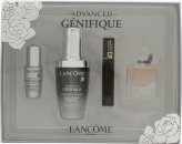 Lancome Genifique Gift Set 30ml Advanced Serum + 4ml La Vie Est Belle EDP + 2ml Hypnôse Mascara + 5ml Génifique Eye Pearl