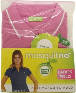 MosquitNo Anti Mosquito Ladies Polo Taglia L - Colori Assortiti