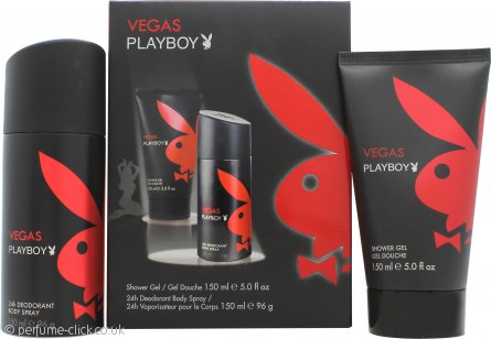 Playboy Vegas Playboy Gift Set 150ml Shower Gel + 150ml Deodorant Spray