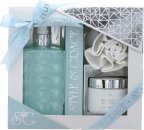Style & Grace Puro Bathroom Retreat Gift Set 500ml Bath Cream + 170ml Body Butter + Shower Flower