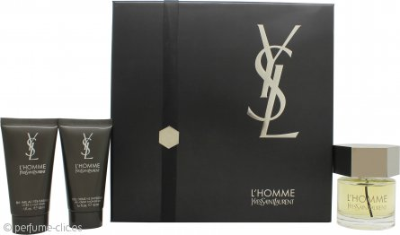 Yves Saint Laurent L'Homme Set de Regalo 60ml EDT + 50ml Bálsamo After Shave + 50ml Gel Ducha Total
