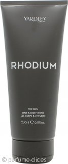 Yardley Rhodium Gel Corporal y Capilar 200ml