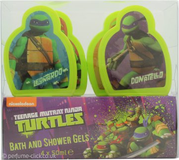 Teenage Mutant Ninja Turtles 4 Day Gift Set 4 x 50ml Bath & Shower Gel