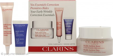 Clarins Early Wrinkle Correction Gift Set 50ml Day Cream + 10ml Active Serum