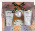 Style & Grace Glitz & Glam A Gift Of Glow Set 110ml Glorious Body Wash + 110ml Luxurious Body Wash + Sparkling Bath Fizzer + Shower Flower