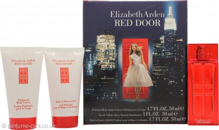 Elizabeth Arden Red Door Gift Set 30ml EDT + 50ml Perfumed Body Lotion + 50ml Bath & Shower Gel