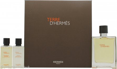 Hermès Terre d'Hermès Gift Set 100ml EDT + 40ml Shower Gel + 40ml Aftershave Lotion