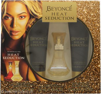 Beyoncé Heat Seduction Gift Set 30ml EDT + 75ml Body Lotion + 75ml Shower Gel