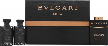 Bvlgari Man In Black Gift Set 60ml EDP + 40ml Aftershave Balm + 40ml Shower Gel