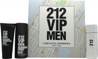 Carolina Herrera 212 VIP Men Set de Regalo 100ml EDT + 100ml Gel de baño/ducha + 150ml Desodorante en Vaporizador