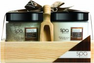 Style & Grace Spa Collection Bath and Body Soak Gift Set 190g Bath Crystals + 170ml Body Butter + Wooden Scoop + Wooden Tray