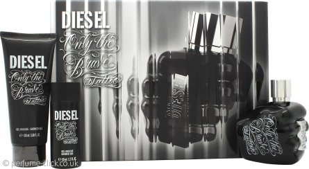 Diesel Only the Brave Tattoo Gift Set 75ml EDT + 50ml Shower Gel + 100ml Shower Gel