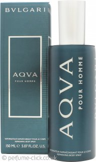 Bvlgari Aqva Pour Homme Refreshing Body Spray 150ml