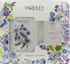 Yardley English Lavender Giftset 200g Parfymerat Talk + 100g Tvål