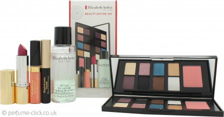 Elizabeth Arden Beauty on the Go Gift Set 6.4g x 8 Eye Shadows + 2g Blush + 4ml Luminous Lip Gloss + 3.5g Raspberry Lipstick + 50ml Eye and Lip Makeup Remover