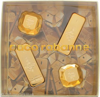 Paco Rabanne His & Hers Gift Set  2 x 1 Million 5ml EDT + 2 x Lady Million 5ml EDP
