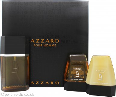 Azzaro Pour Homme Gift Set 100ml EDT + 75ml Aftershave Balm + 75ml Hair & Body Shampoo