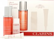 Clarins Mission Perfection Gift Set 30ml Mission Perfection Serum + 30ml Gentle Exfoliating Brightening Toner + 10ml Day Screen Multi-Protection SPF50