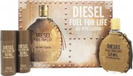 Diesel Fuel For Life Gift Set 50ml EDT + 2 x 50ml Shower Gel