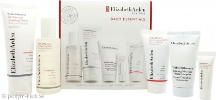 Elizabeth Arden Visible Difference Skin Essentials Presentset 50ml Skin Balancing Exfoliating Cleanser + 5ml Moisturizing Eye Cream + 30ml Gentle Hydrating Night Cream + 30ml Refining Moisture Cream Complex + 30ml Hydration Boost Night Mask