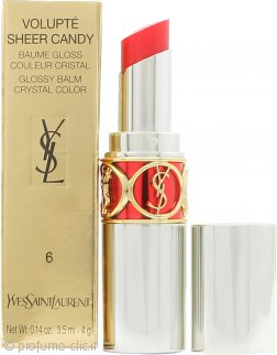 Yves Saint Laurent Volupté Sheer Candy Balsamo Lucido Labbra 3.5ml - 6 Luscious Cherry