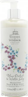 Woods of Windsor Blue Orchid & Water Lily Moisturising Hand & Body Lotion 350ml