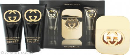 0879110da Gucci Guilty for Her Gift Set 50ml EDT + 50ml Body Lotion + 50ml ...