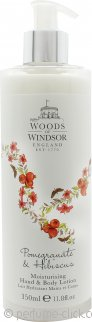 Woods of Windsor Pomegranate & Hibiscus Hand & Body Lotion 350ml
