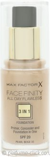 Max Factor Facefinity All Day Flawless 3 in 1 Foundation SPF20 30ml - 35 Pearl Beige