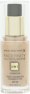 Max Factor Facefinity All Day Flawless 3 in 1 Fondotinta SPF20 30ml - 35 Pearl Beige
