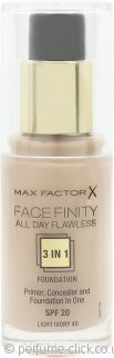 Max Factor Facefinity All Day Flawless 3 in 1 Foundation SPF20 30ml - 40 Light Ivory